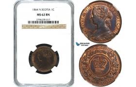 Y26, Canada, Nova Scotia, Victoria, 1 Cent 1864, NGC MS62BN