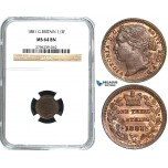 Y29, Great Britain (For use in Malta) Victoria, 1/3 (Third) Farthing 1881, NGC MS64BN