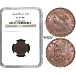 Y31, Great Britain, Victoria, Farthing 1866, London, NGC MS64BN