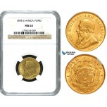 Y43, South Africa (ZAR) Pond 1898, Gold, NGC MS62