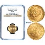 Y55, Romania, Mihai I, 20 Lei 1944, Gold, NGC MS64