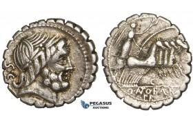 Y69, Roman Republic, Q. Antonius Balbus (83-82 BC) AR Denarius Serratus (3.76g) Rome, Quadriga