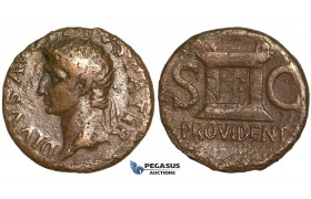 Y70, Roman Empire, Divus Augustus,  Æ As (10.20g) Rome, 22-30 AD (Struck under Tiberius)