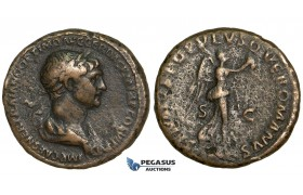 Y73, Roman Empire, Trajan (98-117 AD) Æ As (11.47g) Rome, Victory