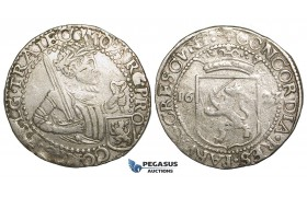 Y78, United Netherlands, Zeeland, 1/2 rijksdaalder 1623, Silver (13.94g) Del. 957