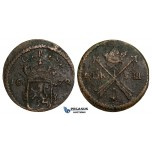 Y79, Sweden, Karl XI, 1 Öre 1678, Avesta, Copper, F (some corrosion)