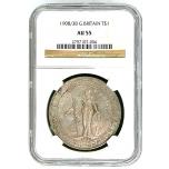 Y99, Great Britain, Trade Dollar 1908/3-B, Bombay, Silver, NGC AU55