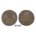 Z147, Poland (for Danzig Free City) Schilling (szelag) 1808-M, Danzg, High Grade! Rare!