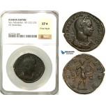 Z16, Roman Empire, Severus Alexander (222-235 AD) Æ Sestertius (21.53g) Rome 231-235 AD, Mars, NGC XF* Star,  Fine Style