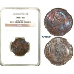 Z27, France, Napoleon III, 5 Centimes 1865-BB, Strasbourg, NGC MS65BN (Pop 1/0, Finest known!)