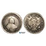 Z35, Russia, Elisabeth, Polupoltinnik 1751 ММД-А, Moscow, Silver (6.60g) VF