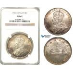 Z46, Canada, George V, 1 Dollar 1936, Silver, NGC MS62