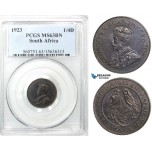 Z49, South Africa, George V, 1/4 Penny 1923, PCGS MS63BN