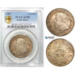 Z50, South Africa (ZAR) 2 1/2 Shillings 1897, Silver, PCGS AU58