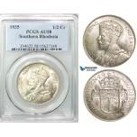 Z57, Southern Rhodesia (Zimbabwe) George V, 1/2 Crown 1935, Silver, PCGS AU58