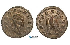 Z60, Roman Empire, Divus Claudius II Gothicus (Died 270 AD) Antoninianus (2.14g) Rome, 1st emission of Aurelian, Eagle, EF