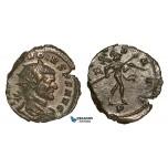 Z61, Roman Empire, Divus Claudius II Gothicus (Died 270 AD) Antoninianus (2.50g) Mediolanum, Mars, EF