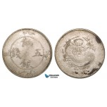 Z70, China, Sinkiang, 5 Miscals ND (1905 AD) Silver (17.69g) Y6, stains, F-VF