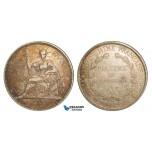 Z79, French Indo-China, 1 Piastre 1900-A, Paris, Silver, VF