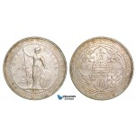Z80, Great Britain, Trade Dollar 1899-B, Bombay, Silver, Cleaned AU