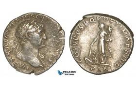 Z88, Roman Empire, Trajan (98-117 AD) AR Denarius (3.17g) Rome (107-111 AD) Pax, VF