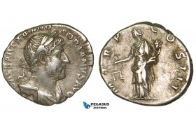 Z92, Roman Empire, Hadrian (117-138 AD) AR Denarius (3.31g) Rome (119-122 AD) Aequitas, VF