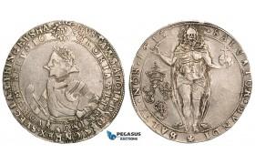 ZA24, Sweden, Gustav II Adolf, 1 Riksdaler 1615, Stockholm, Silver (28.96g) SM 23b, aVF (light cleaning)