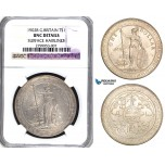 ZA50, Great Britain, Trade Dollar 1902-B, Bombay, Silver, NGC UNC