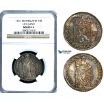ZA63, Netherlands, Holland, X Stuivers 1751, Silver, NGC MS65+★