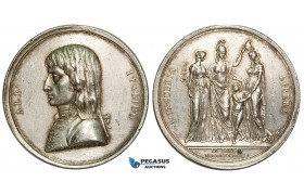 ZA72, France, Medal by Vassallo and Salvirch, 1797: On the Eliberation of Lombardy, Silver (Ø 47mm, 44.32g) Cleaned XF, Rare!