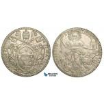 ZA77, Italy, Papal, Pius VI, Scudo 1780 (VI) Silver (26.28g) XF with lustre!