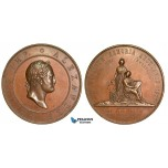 ZA85, Russia, Medal by C. Jahn, 1877, on the 100th anniversary of birth of Alexander I, Bronze (Ø 69mm, 132.54g) VF-XF