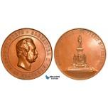 ZA86, Russia, Medal 1894, Alexander II Monument in Helsinki, Bronze (69mm, 158.8g) XF