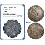 ZB50, Mexico, Charles IV, 8 Reales 1808 Mo TH, Mexico City, Silver, NGC VF30