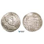 ZB54, Poland, Sigismund III, 3 Groschen (Trojak) 1598 I/F, Olkusz, Silver (2.17g) UNC