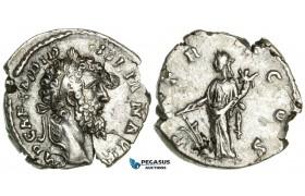 ZB61, Roman Empire, Didius Julianus (193 AD) AR Denarius (2.58g) Rome, Fortuna, Very Rare!