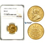 ZB78, South Africa (ZAR) Pond 1898, Gold, NGC MS62
