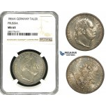 ZB96, Germany, Prussia, Wilhelm I, 1 Taler 1866-A, Berlin, Silver, NGC MS63