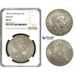 ZB98, Germany, Prussia, Wilhelm II, 5 Mark 1907-A, Berlin, Silver, NGC MS63