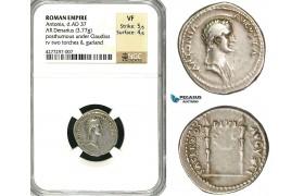 ZC20, Roman Empire, Antonia, mother of Claudius, AR Denarius (3.77g) struck under Claudius, Rome, 41-45 AD, NGC VF