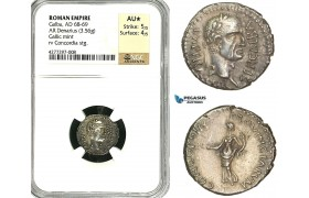 ZC21, Roman Empire, Galba (68-69 AD), AR Denarius (3.56g) Narbo, 68 AD, Concordia, Very rare! NGC AU★
