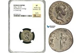 ZC24, Roman Empire, Otho (69 AD), AR Denarius (3.42g) Rome, Ceres, Rare! NGC XF