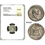 ZC36, Roman Empire, Domitian (81-96 AD), AR Denarius (2.95g) Rome, Struck under Titus, Altar, NGC Ch XF