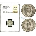 ZC48, Roman Empire, Hadrian (117-138 AD), AR Denarius (3.20g) Rome, 134-138 AD, Alexandria, NGC Ch XF, Fine Style