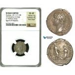 ZC52, Roman Empire, Hadrian (117-138 AD) AR Denarius (3.22g) Rome, 134-138 AD, Hispania, Very Rare! NGC Ch VF, Fine Style