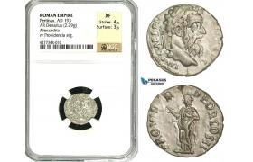 ZC69, Roman Empire, Pertinax (193 AD), AR Denarius (2.29g) Alexandria, 193 AD, Providentia, NGC XF