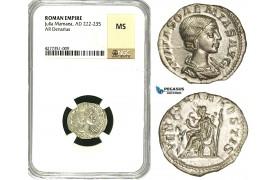 ZC96, Roman Empire, Julia Soemias, Mother of Elagabalus (218-224 AD), AR Denarius (3.03g) Rome, 220-222 AD, Venus, NGC MS