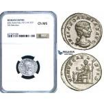 ZC98, Roman Empire, Julia Soemias, Mother of Elagabalus (218-224 AD), AR Denarius,Rome, 220-222 AD, Venus, NGC Ch MS