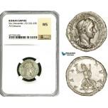 ZD25, Roman Empire, Severus Alexander (222-235 AD), AR Denarius (3.16g) Rome, Pax, NGC MS