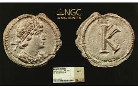 ZD45, Roman Empire, Anonymous, AR 1/3 Siliqua (One Scripulum) Constantinopolis, c. 330 AD, NGC AU